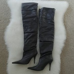 Wet Seal Brown Over the knee boots